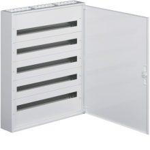 Fém mezős elosztó, 180 modul, 5 sor, 941x787x150mm, teli ajtóval, IP30, falon kívüli, Univers (Hager FW536WT)