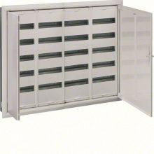 Fém mezős elosztó, 240 modul, 5 sor, 853x1103x110mm, teli ajtóval, IP30, süllyesztett, Univers (Hager FW54US2)