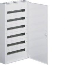 Fém mezős elosztó, 144 modul, 6 sor, 1091x571x150mm, teli ajtóval, IP30, falon kívüli, Univers (Hager FW624WT)