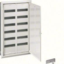 Fém mezős elosztó, 144 modul, 6 sor, 1003x603x110mm, teli ajtóval, IP30, süllyesztett, Univers (Hager FW62US2)
