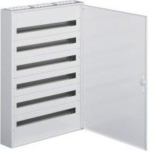 Fém mezős elosztó, 216 modul, 6 sor, 1091x787x150mm, teli ajtóval, IP30, falon kívüli, Univers (Hager FW636WT)