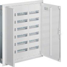 Fém mezős elosztó, 216 modul, 6 sor, 1003x853x110mm, teli ajtóval, IP30, süllyesztett, Univers (Hager FW63US2)