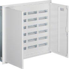 Fém mezős elosztó, 288 modul, 6 sor, 1003x1103x110mm, teli ajtóval, IP30, süllyesztett, Univers (Hager FW64US2)