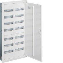 Fém mezős elosztó, 168 modul, 7 sor, 1153x603x110mm, teli ajtóval, IP30, süllyesztett, Univers (Hager FW72US2)