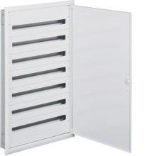 Fém mezős elosztó, 252 modul, 7 sor, 1292x838x121mm, teli ajtóval, IP30, süllyesztett, Univers (Hager FW736FT)