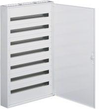 Fém mezős elosztó, 252 modul, 7 sor, 1241x787x150mm, teli ajtóval, IP30, falon kívüli, Univers (Hager FW736WT)