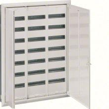 Fém mezős elosztó, 252 modul, 7 sor, 1153x853x110mm, teli ajtóval, IP30, süllyesztett, Univers (Hager FW73US2)