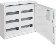 Fém mezős elosztó, 72 modul, 3 sor, 500x550x161mm, teli ajtóval, IP44, falon kívüli, Univers (Hager FWB32)