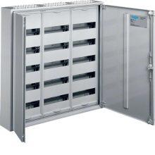 Fém mezős elosztó, 180 modul, 5 sor, 800x800x161mm, teli ajtóval, IP44, falon kívüli, Univers (Hager FWB53)