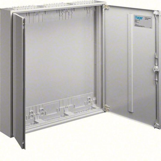 Hager FWB53D Univers mezős elosztó, falon kívüli, IP44, üres, 800x800x161mm