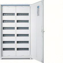 Fém mezős elosztó, 144 modul, 6 sor, 950x550x161mm, teli ajtóval, IP44, falon kívüli, Univers (Hager FWB62)
