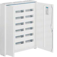 Fém mezős elosztó, 216 modul, 6 sor, 950x800x161mm, teli ajtóval, IP44, falon kívüli, Univers (Hager FWB63)