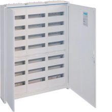 Fém mezős elosztó, 252 modul, 7 sor, 1100x800x161mm, teli ajtóval, IP44, falon kívüli, Univers (Hager FWB73)