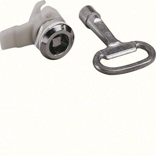 Hager FZ451 Quadro 4/5 zár, 7mm-es négyzetes betéttel, 1db kulccsal