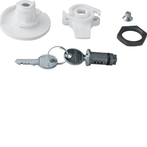 Hager FZ453 Quadro 4/5 kulcsos zár, 2db 455-ös kulccsal