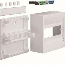 Műanyag minielosztó, 8 modul, 1 sor, ajtó nélkül, IP30, falon kívüli, Gamma (Hager GD108N)
