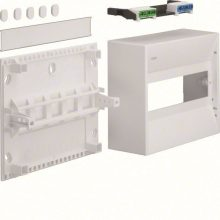 Műanyag minielosztó, 10 modul, 1 sor, ajtó nélkül, IP30, falon kívüli, Gamma (Hager GD110N)