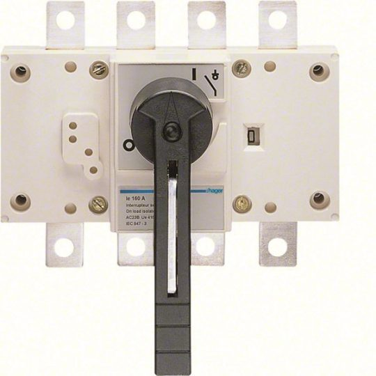 Hager HA457 Terheléskapcsoló leválasztás kijelzéssel, 4P, 400A