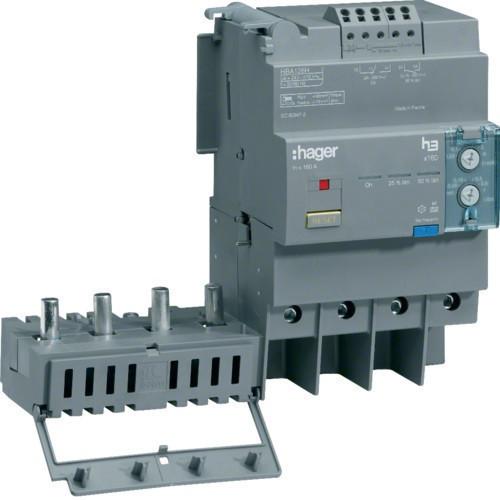 Hager HBA126H x160 áramvédő-kapcsoló blokk, 4P; 0,03-6A; 0,06-1s; 125A