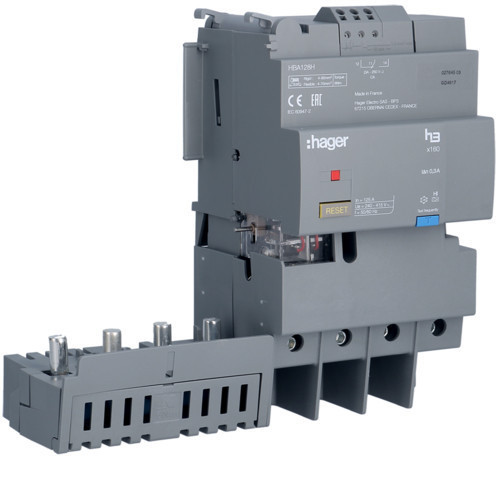 Hager HBA128H x160 áramvédő-kapcsoló blokk, 4P, 300mA, 125A, fix