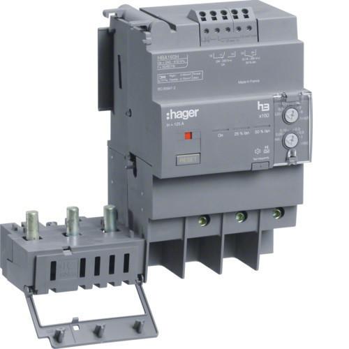 Hager HBA160H x160 áramvédő-kapcsoló blokk, 3P; 0,03-6A; 0,06-1s; 160A