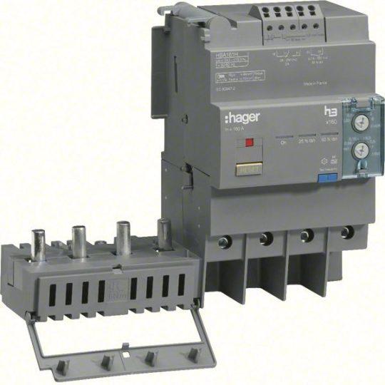 Hager HBA161H x160 áramvédő-kapcsoló blokk, 4P; 0,03-6A; 0,06-1s; 160A