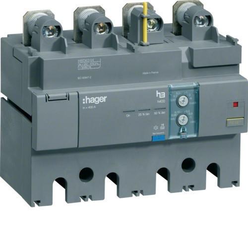 Hager HBD631H h630 áramvédő-kapcsoló blokk, 4P; 0,03-6A; 0,06-1s; 500A