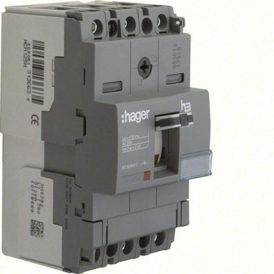Hager HCA125H x160 kioldó nélküli kapcsoló, 3P, 125A