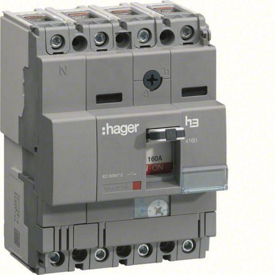 Hager HCA126H x160 kioldó nélküli kapcsoló, 4P, 125A