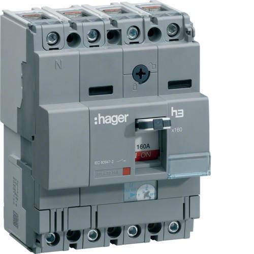 Hager HCA161H x160 kioldó nélküli kapcsoló, 4P, 160A