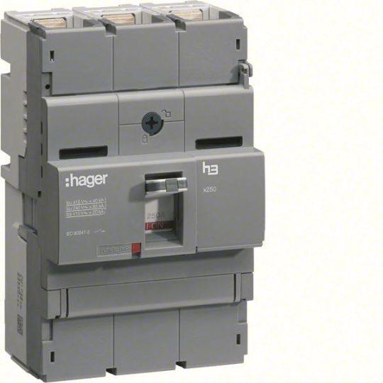 Hager HCB250H x250 kioldó nélküli kapcsoló, 3P, 250A