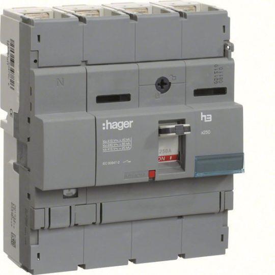 Hager HCB251H x250 kioldó nélküli kapcsoló, 4P, 250A