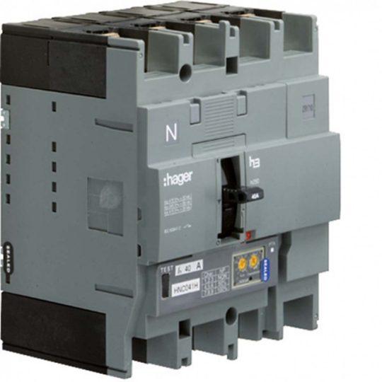 Hager HEC041H h250 LSI kompakt megszakító, 4P, 40A, 70kA