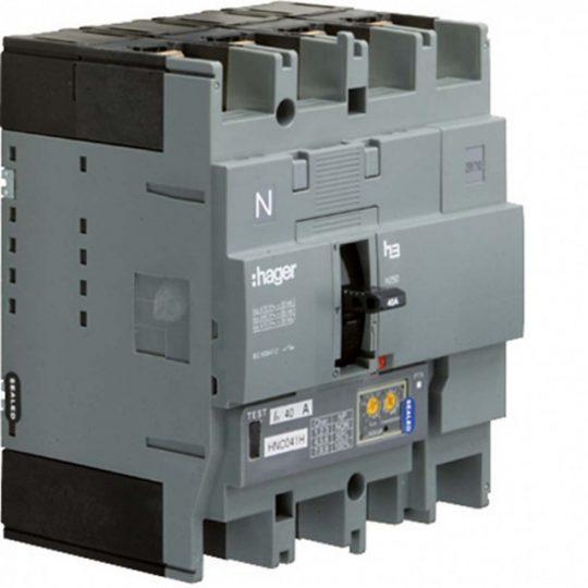 Hager HEC251H h250 LSI kompakt megszakító, 4P, 250A, 70kA