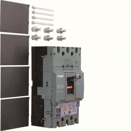 Hager HED250H h630 LSI kompakt megszakító, 3P, 250A, 70kA