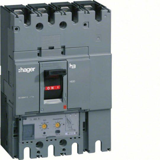 Hager HED251H h630 LSI kompakt megszakító, 4P, 250A, 70kA