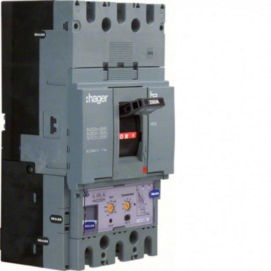 Hager HED400H h630 LSI kompakt megszakító, 3P, 400A, 70kA