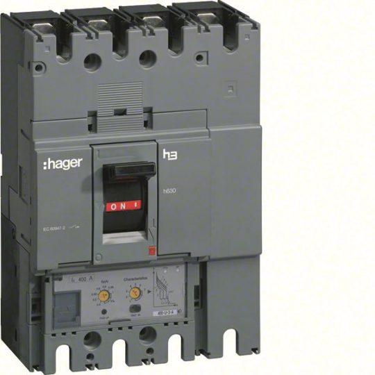 Hager HED401H h630 LSI kompakt megszakító, 4P, 400A, 70kA