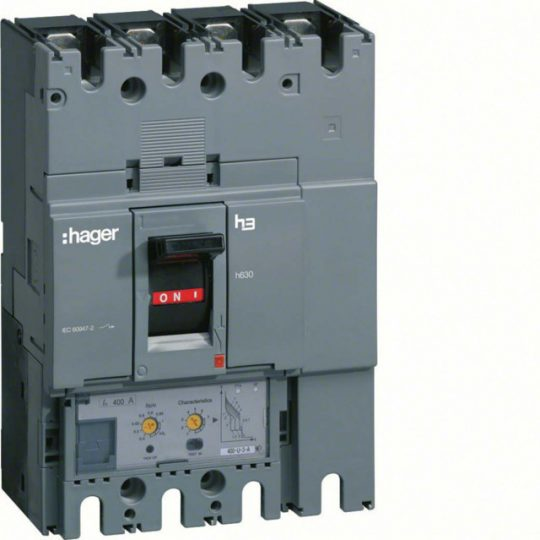 Hager HED631H h630 LSI kompakt megszakító, 4P, 630A, 70kA