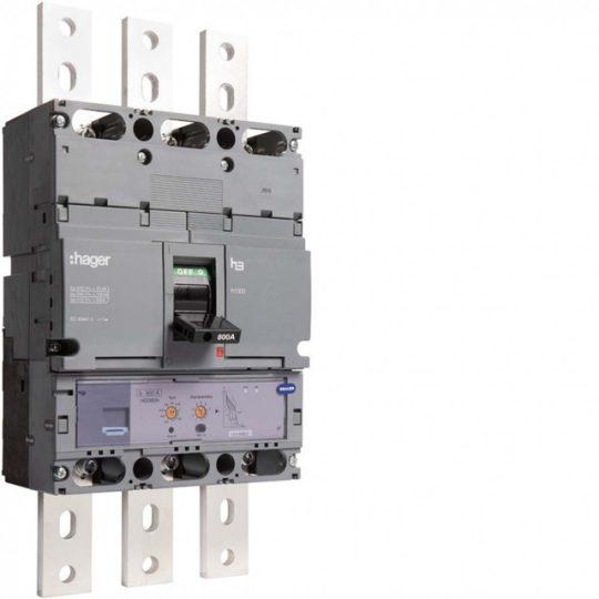 Hager HEE800H h1000 LSI kompakt megszakító, 3P, 800A, 70kA