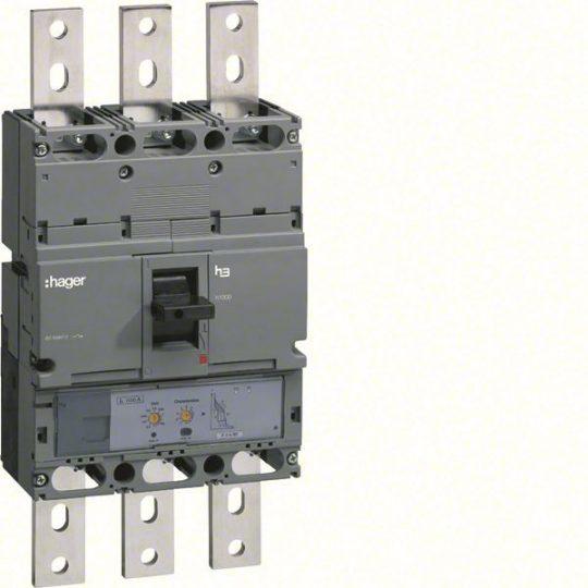 Hager HEE970H h1000 LSI kompakt megszakító, 3P, 1000A, 70kA