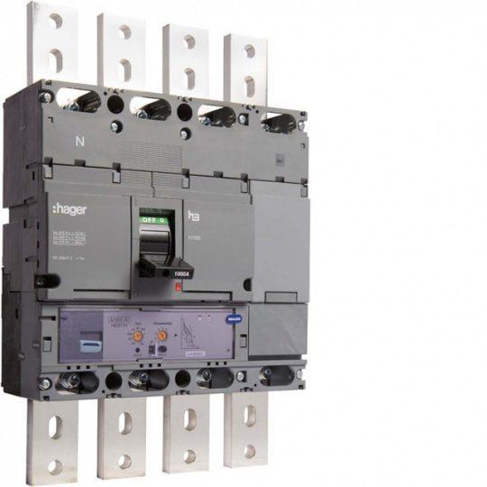 Hager HEE971H h1000 LSI kompakt megszakító, 4P, 1000A, 70kA