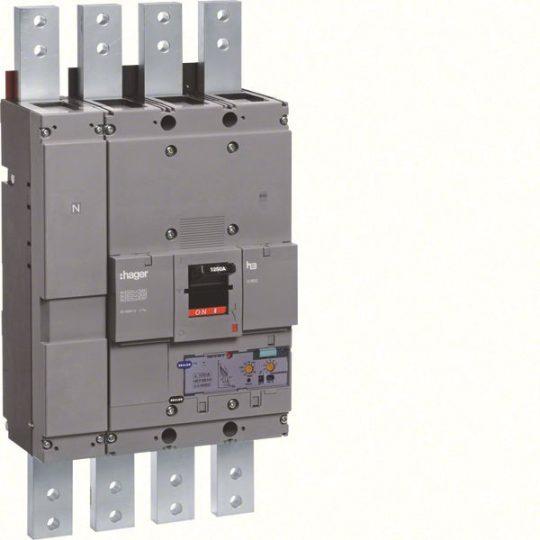 Hager HEF981H h1600 LSI kompakt megszakító, 4P, 1250A, 70kA