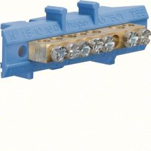 Hager Golf KM07N N/PE sín 3x16mm2+4x10mm2, L=49mm, talpra szerelt, kék (Hager KM07N)