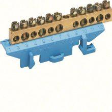 Hager Golf KM11N N/PE sín 5x16mm2+6x10mm2, L=73mm, talpra szerelt, kék (Hager KM11N)