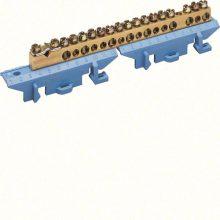 N/PE sín 1x25mm2+8x16mm2+8x10mm2, L=121,5mm, talpra szerelt, kék (Hager KM17N)