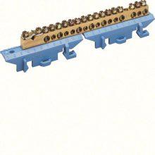 Hager Golf KM17N N/PE sín 1x25mm2+8x16mm2+8x10mm2, L=121,5mm, talpra szerelt, kék (Hager KM17N)