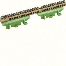 Hager Golf KM25E N/PE sín 1x25mm2+11x16mm2+13x10mm2, L=169mm, talpra szerelt, zöld (Hager KM25E)