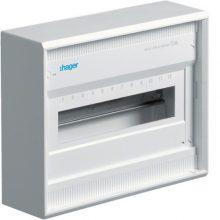 Műanyag kiselosztó 12 modul, 1 sor, ajtó nélkül, IP30, falon kívüli, Volta (Hager VA12B)