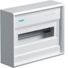 Hager Volta VA12B Műanyag kiselosztó 12 modul, 1 sor, ajtó nélkül, IP30, falon kívüli, Volta (Hager VA12B)
